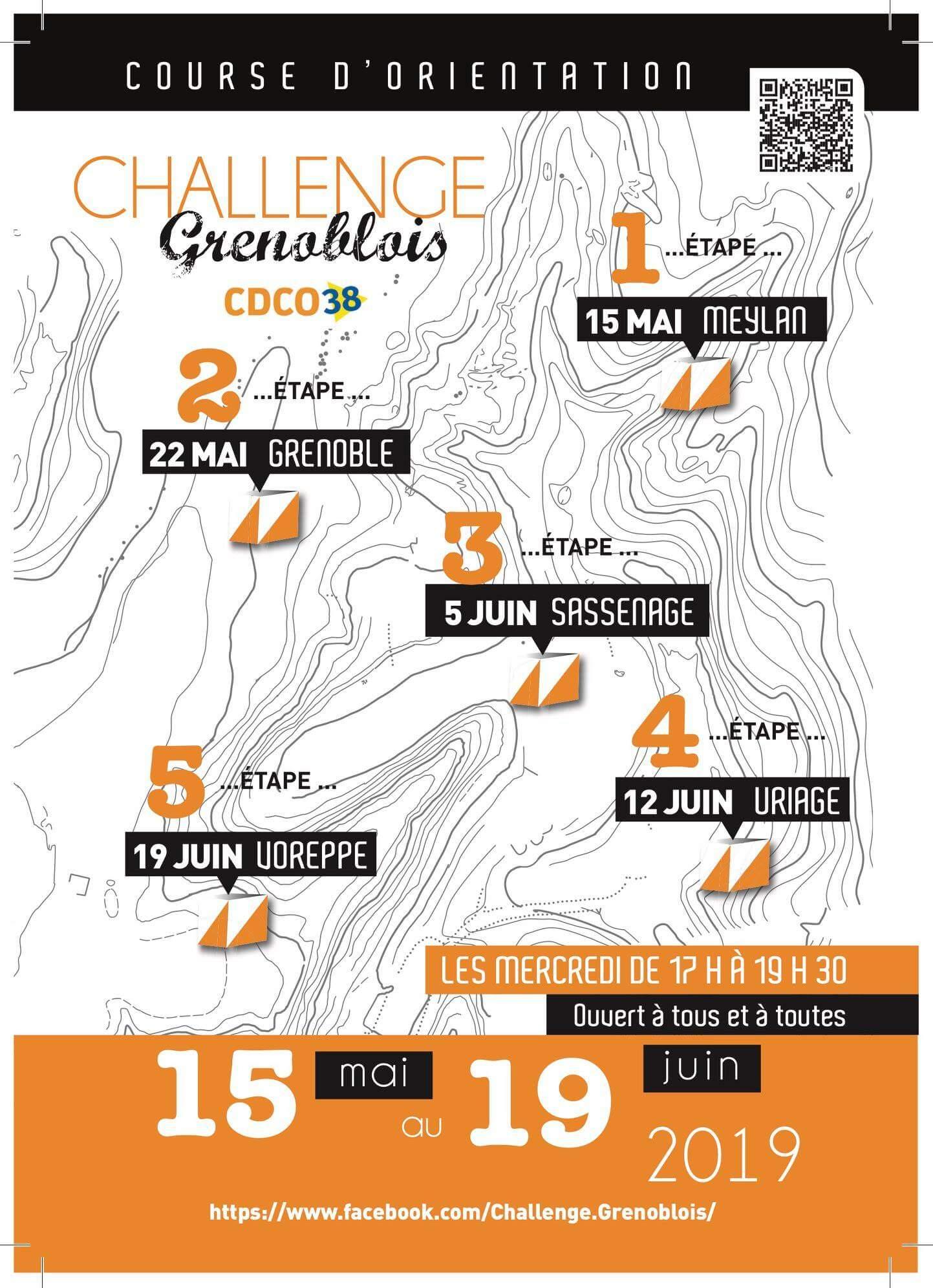 Challenge grenoblois de course d'orientation 2019